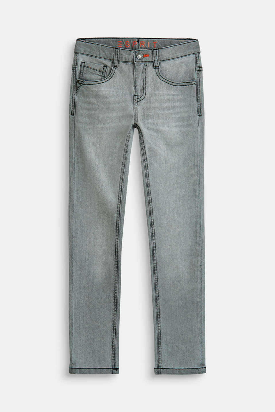 Esprit - Superstretchjeans met washed-out effect