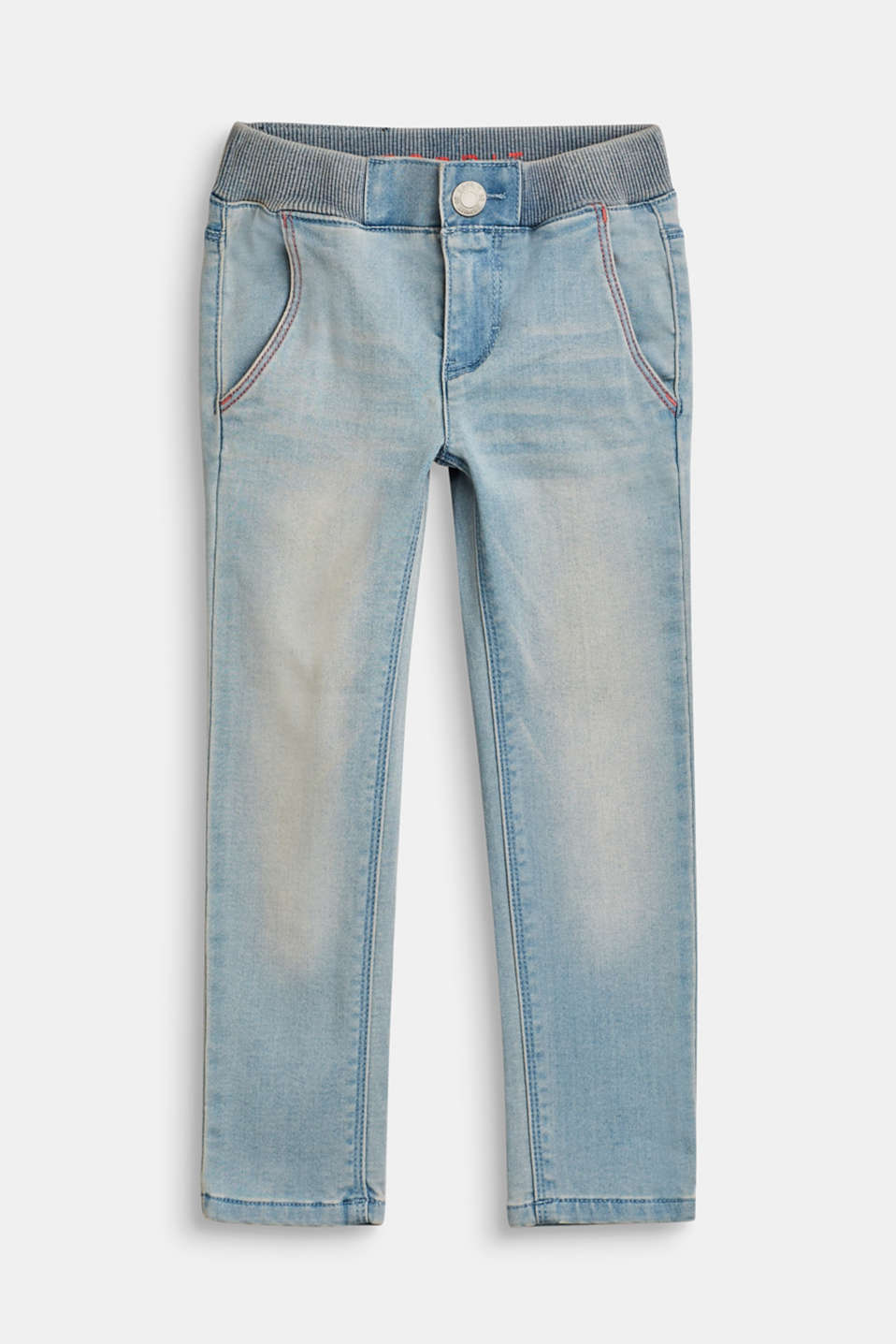 Esprit - Jeans aus super softem Denim mit bunten Stitchings
