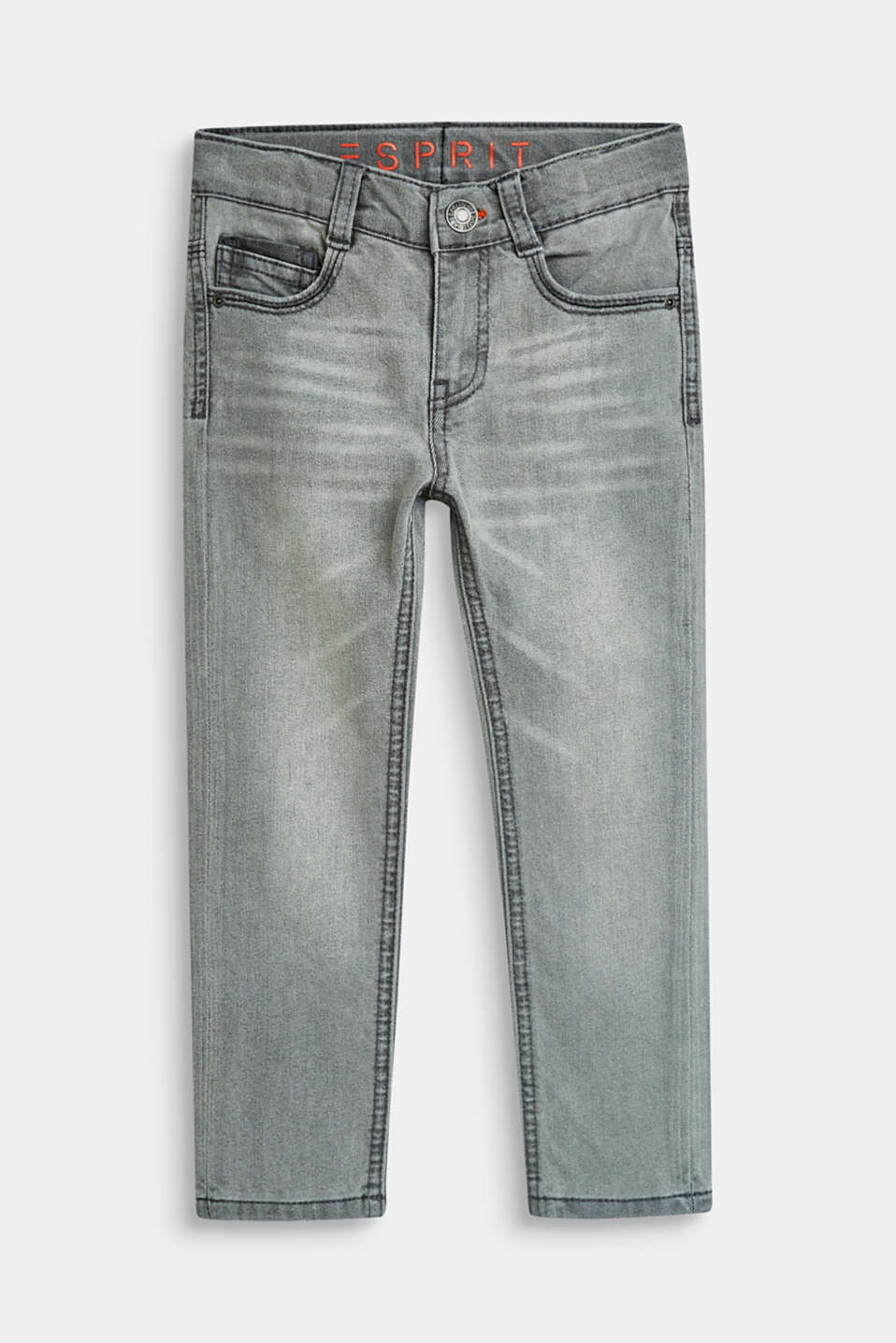 Esprit - Graue Stretch-Jeans mit Verstellbund