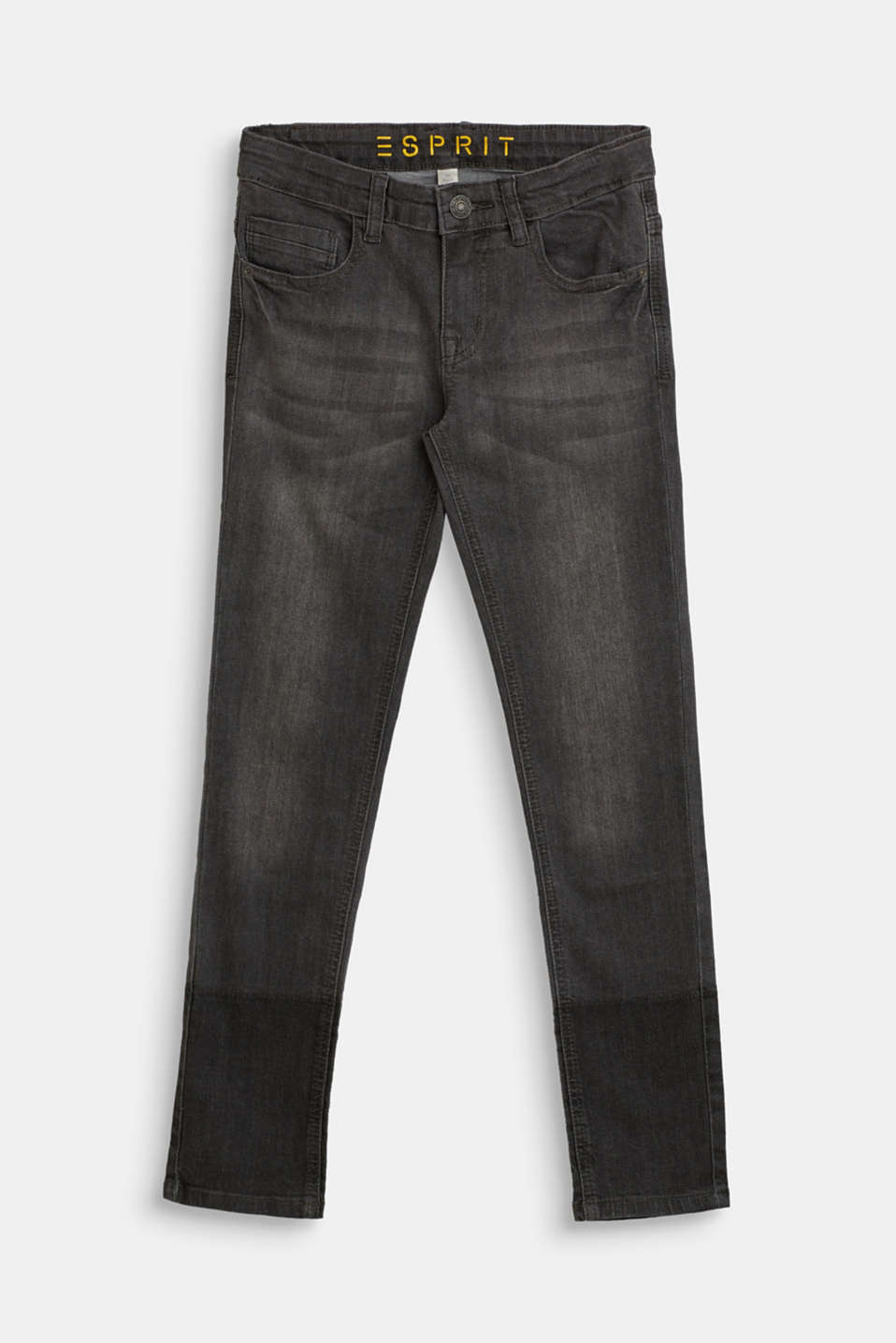 Esprit - Super stretchy jeans with a washed-out finish