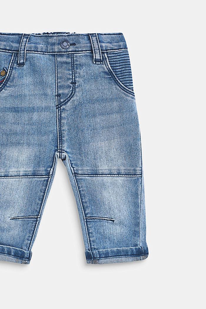 Stretch-Jeans mit Ziernähten und Gummizugbund, LCMEDIUM WASH DE, detail image number 2