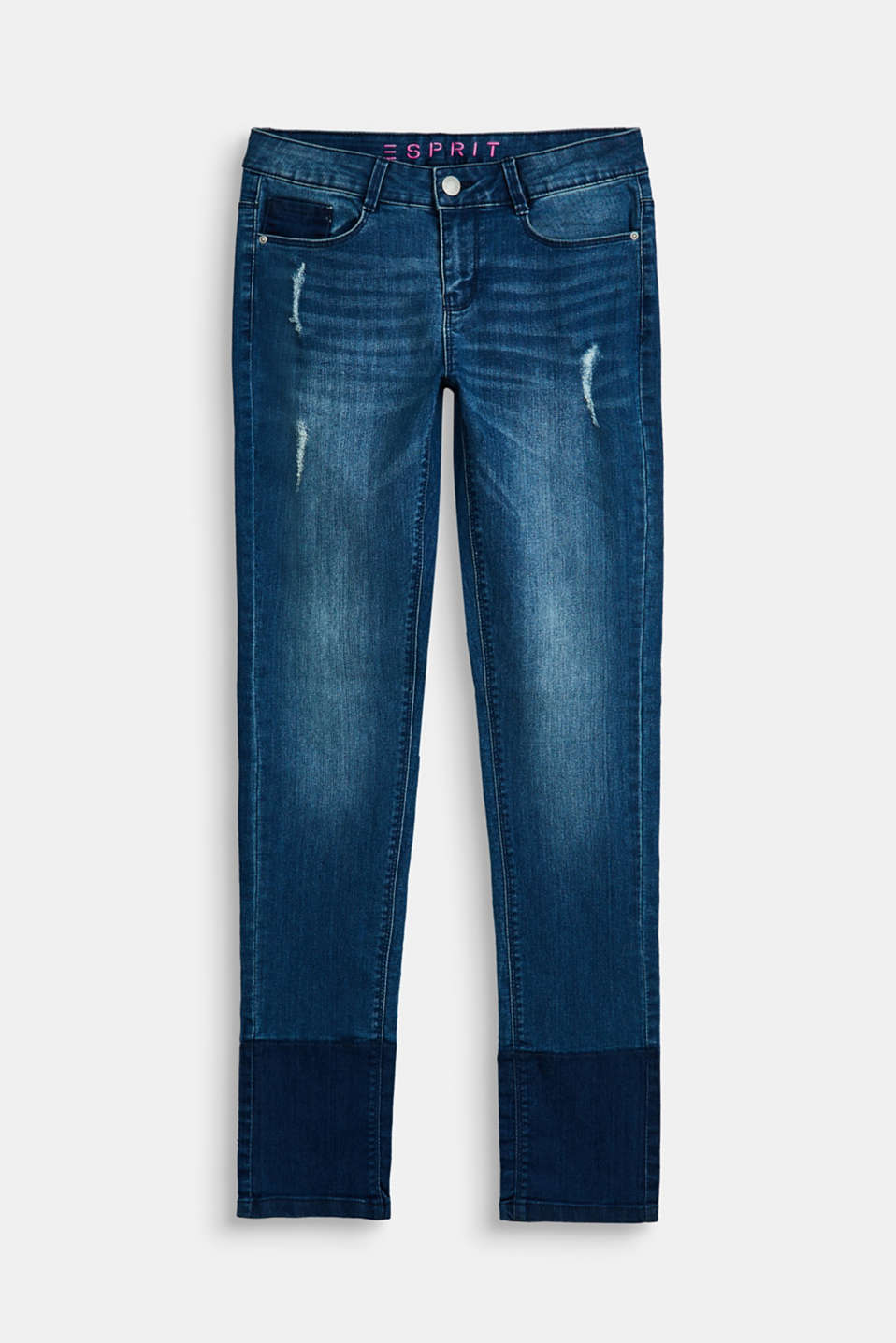 Esprit - Superstretch-Jeans mit Destroyed-Effekten
