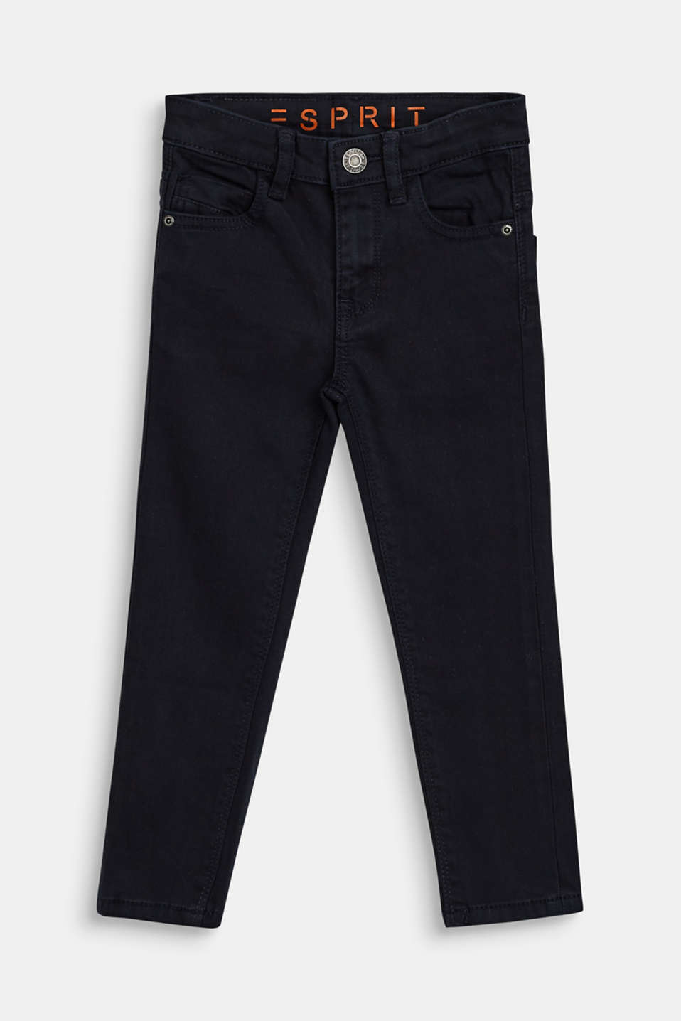 Esprit - Coloured stretch jeans with an adjustable waistband