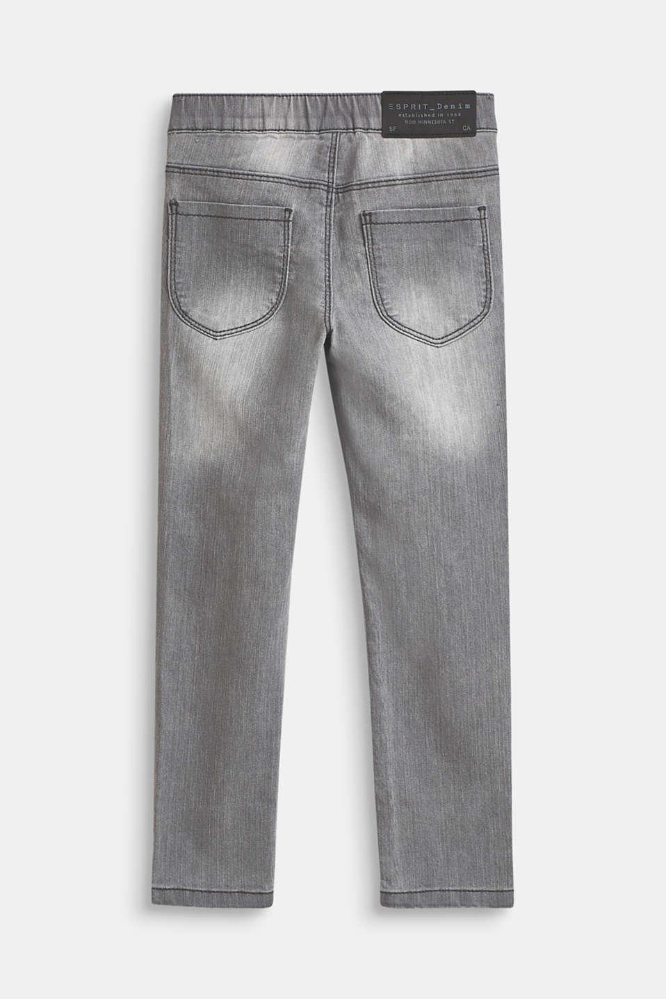 Pants denim, LCLIGHT GREY DEN, detail image number 1