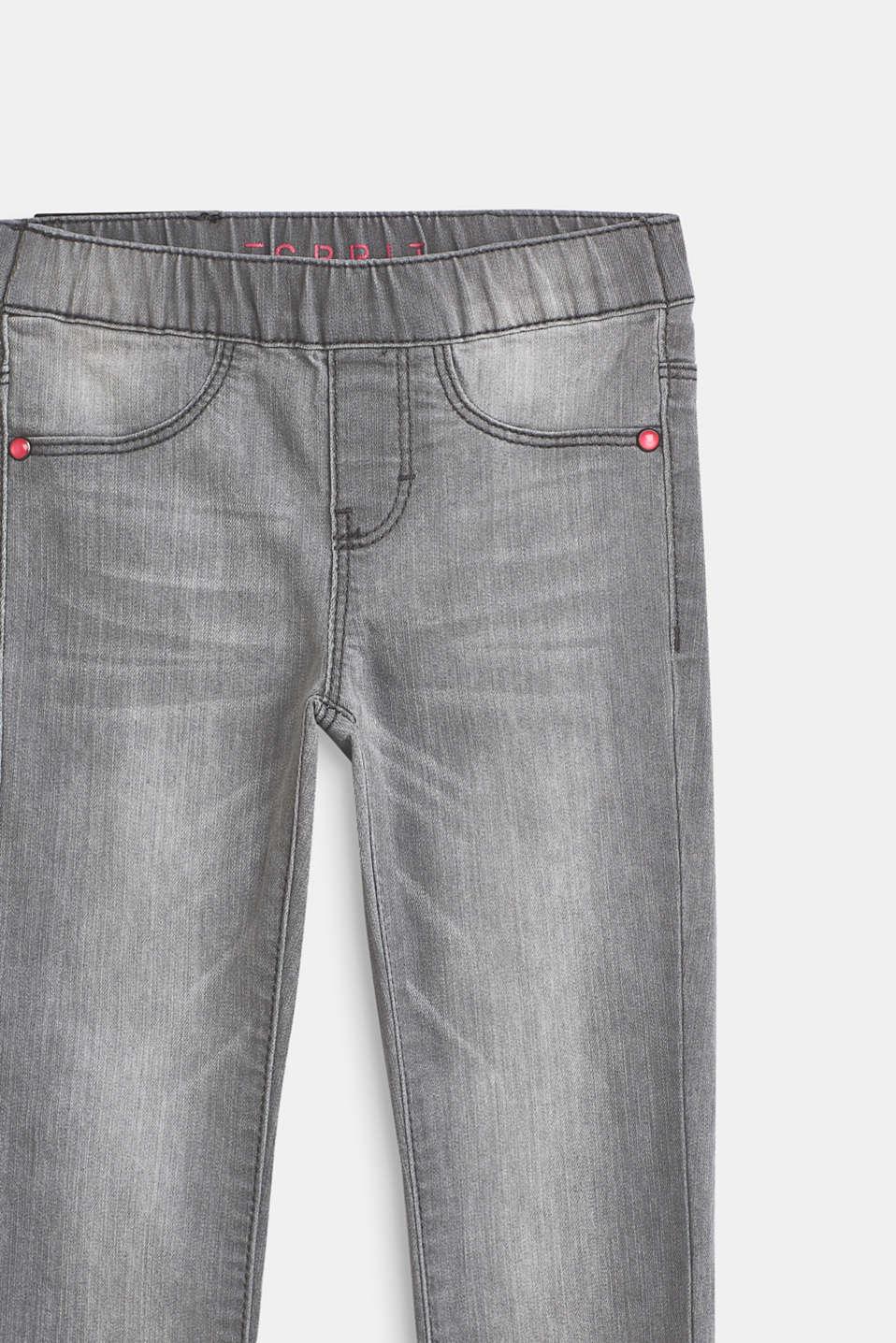 Pants denim, LCLIGHT GREY DEN, detail image number 2