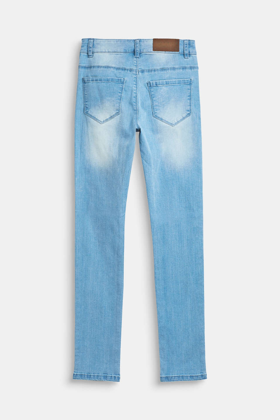 Stretch jeans with stripes and an adjustable waist, LCBLUE LIGHT WAS, detail image number 1