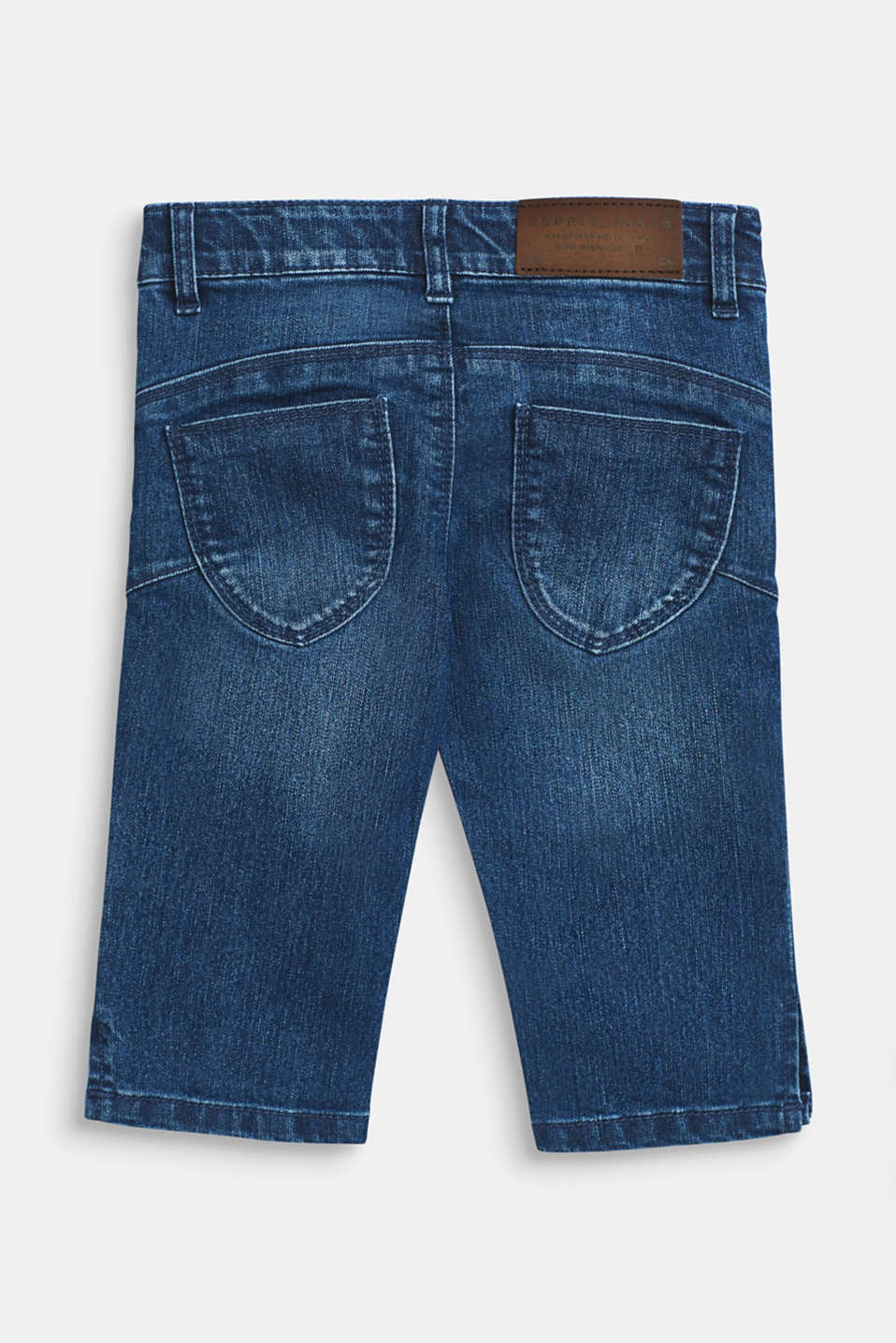 3/4 stretch jeans with adjustable waistband, MEDIUM WASH DE, detail image number 1