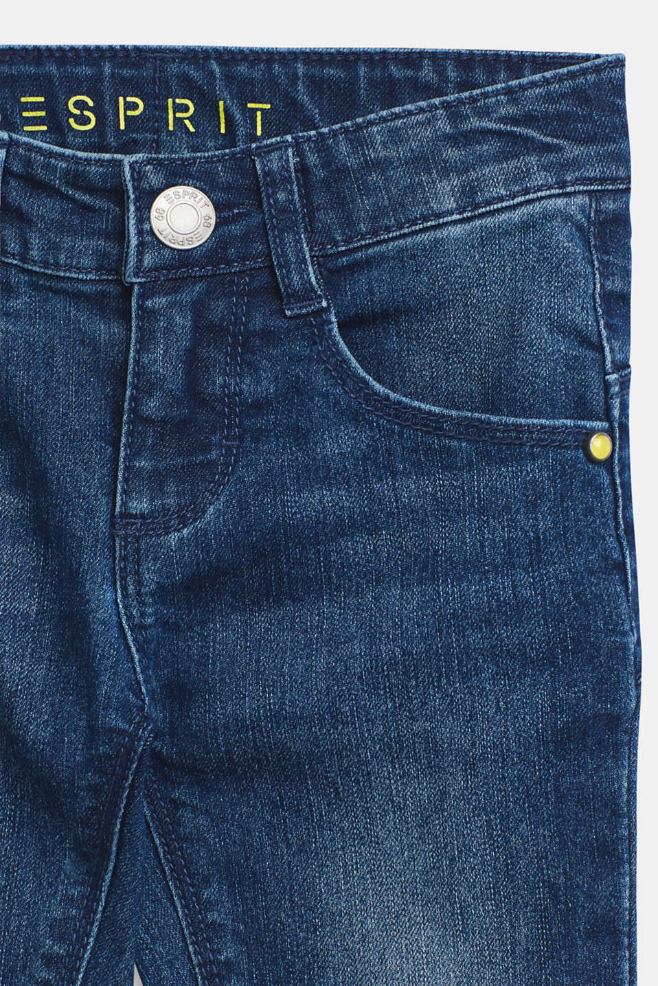 3/4 stretch jeans with adjustable waistband, MEDIUM WASH DE, detail image number 2