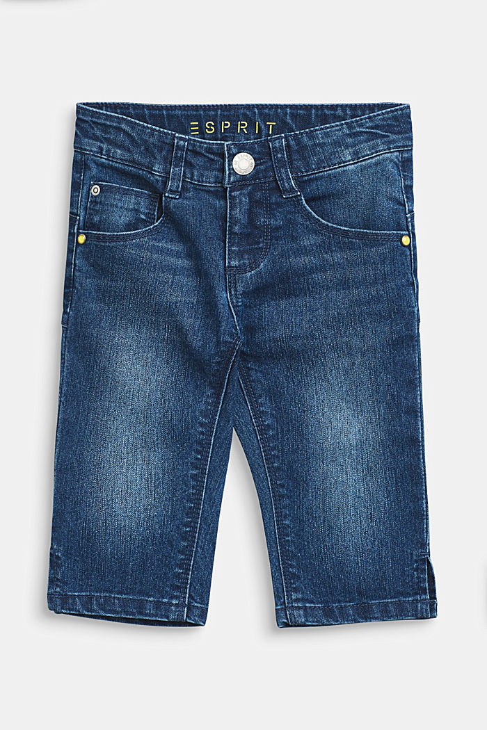 3/4 stretch jeans with adjustable waistband