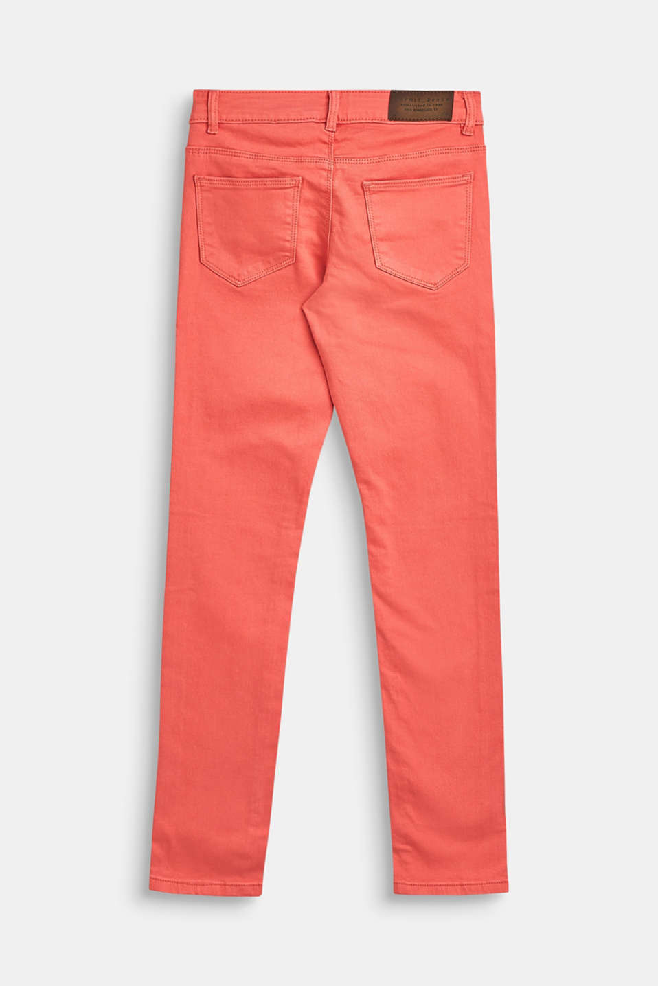 Stretch cotton trousers with an adjustable waistband, LCCORAL, detail image number 1
