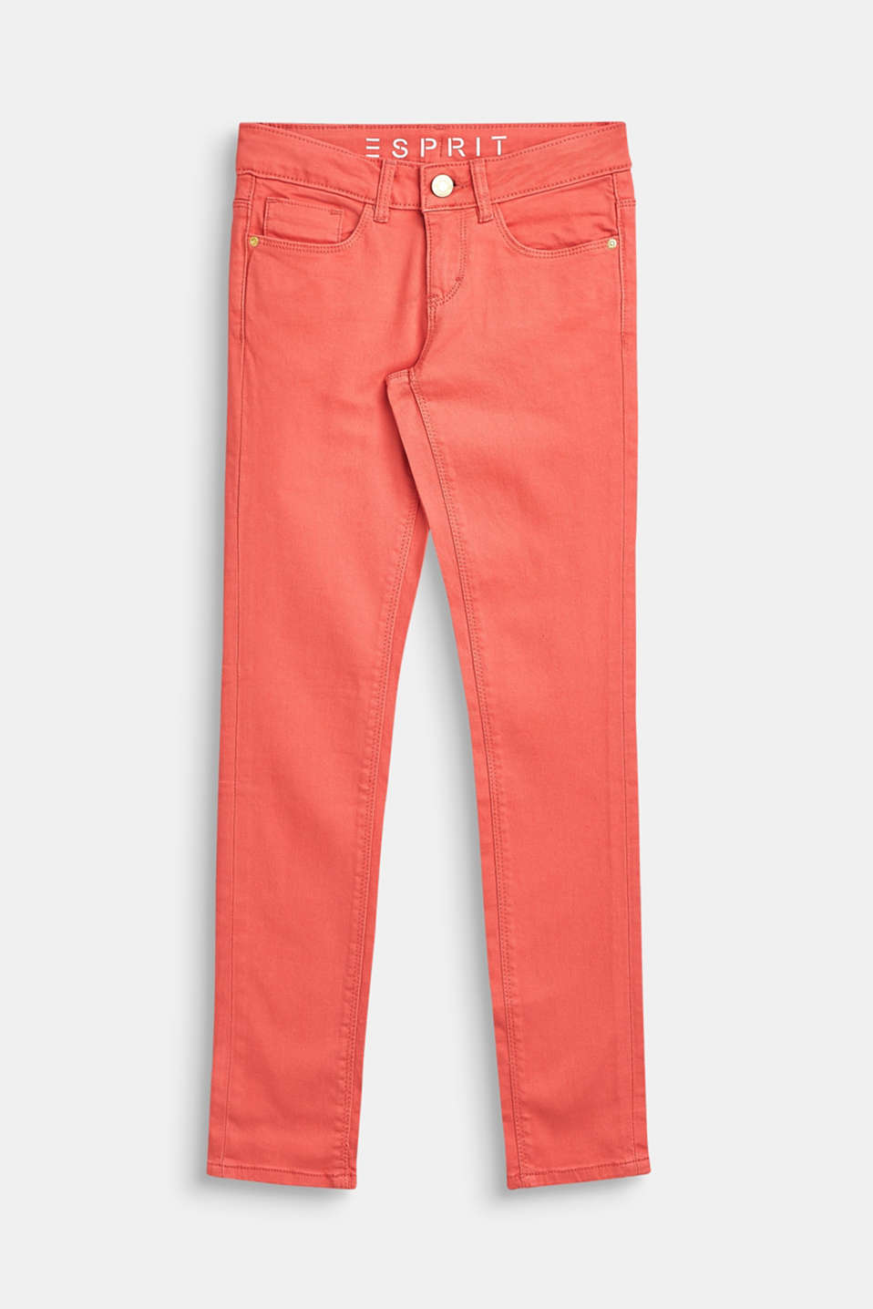 Stretch cotton trousers with an adjustable waistband, LCCORAL, detail image number 0