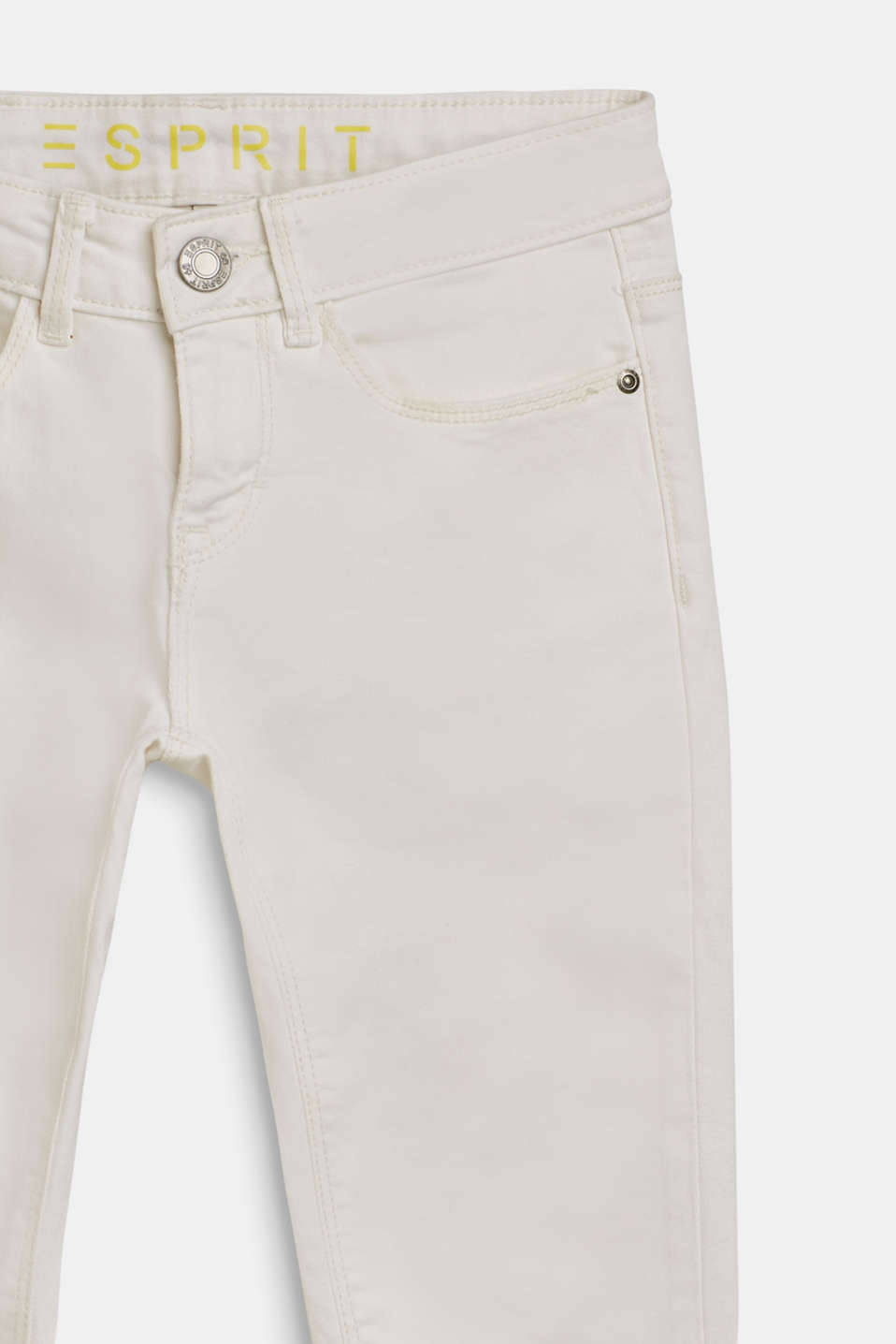 Stretch jeans with an adjustable waist, LCWHITE, detail image number 2