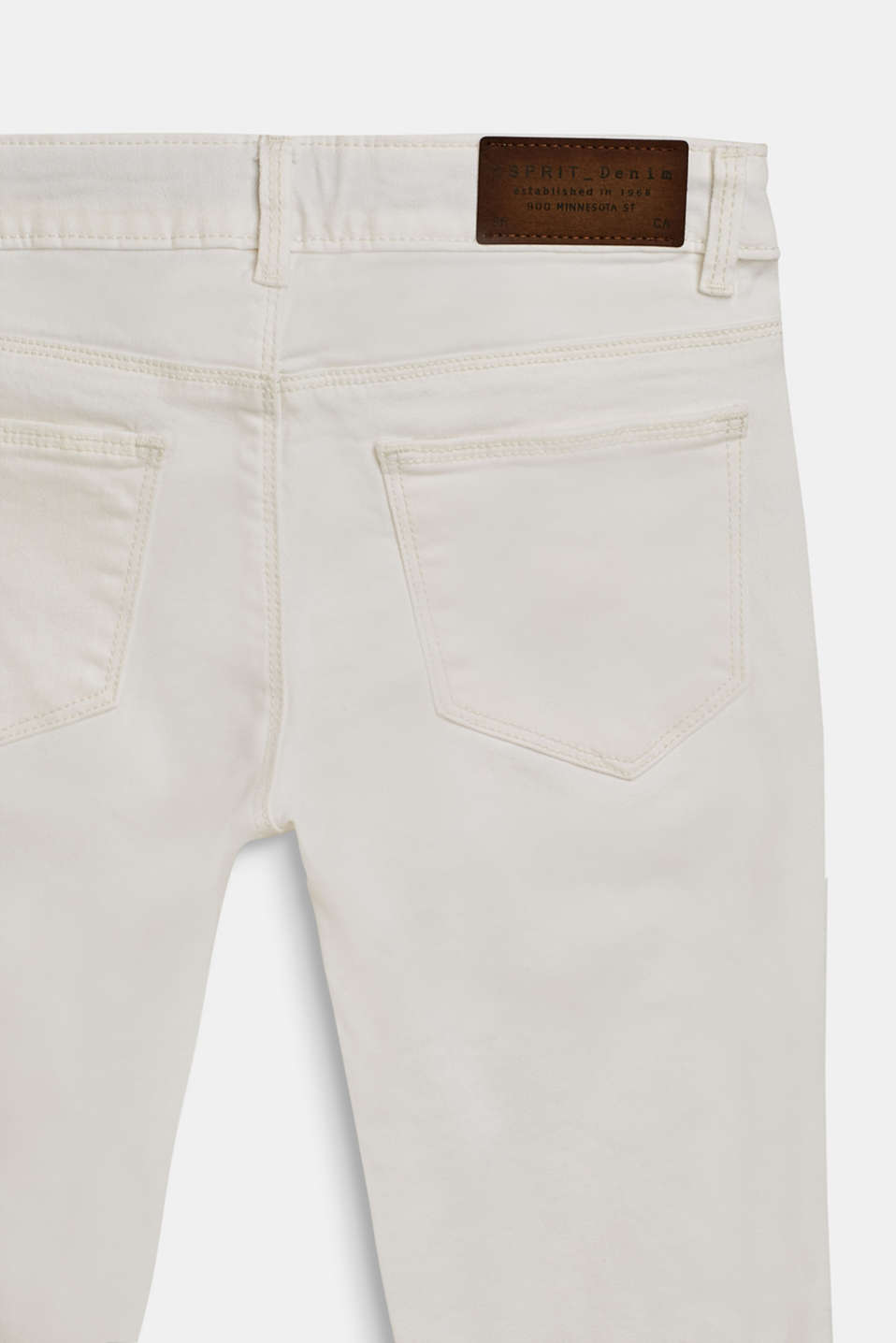 Stretch jeans with an adjustable waist, LCWHITE, detail image number 3