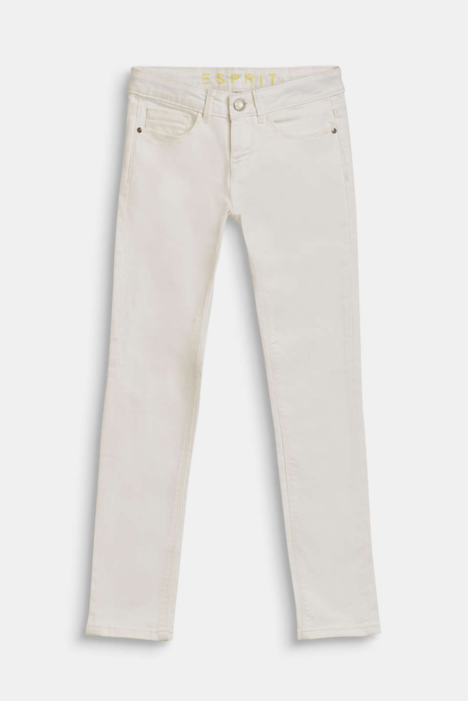 Stretch jeans with an adjustable waist, LCWHITE, detail image number 0