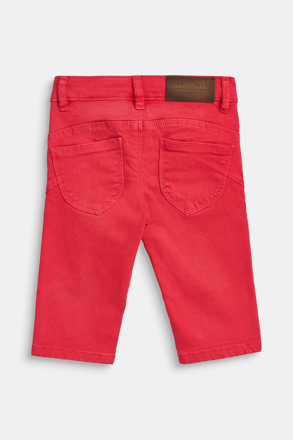 Stretch jeans in trend colours, WATERMELON, detail image number 1