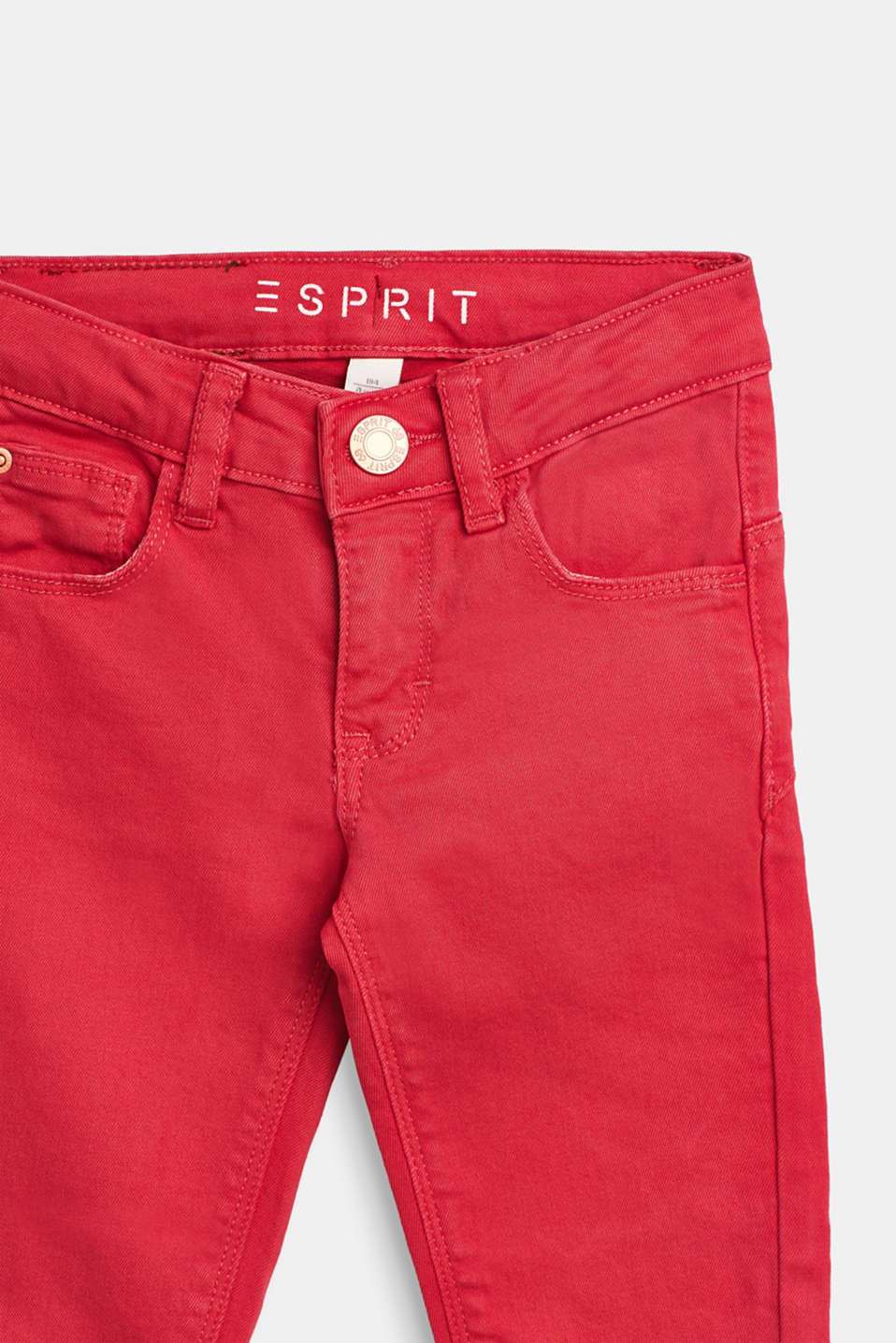 Stretch jeans in trend colours, WATERMELON, detail image number 2