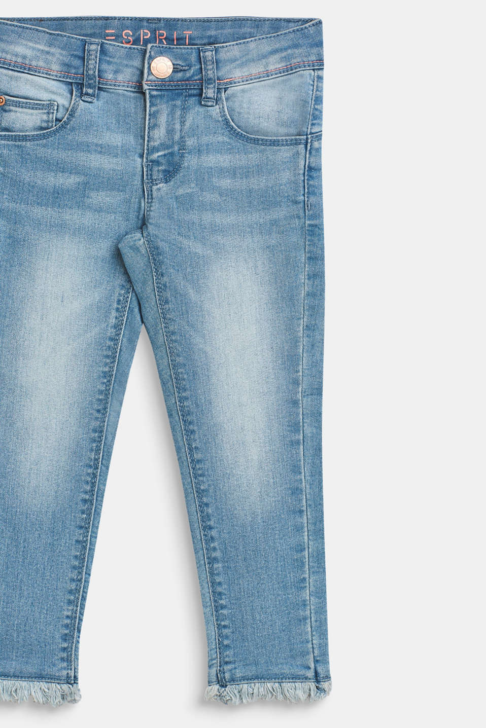 Ultra stretchy jeans with a washed-out effect, BLEACHED DENIM, detail image number 2