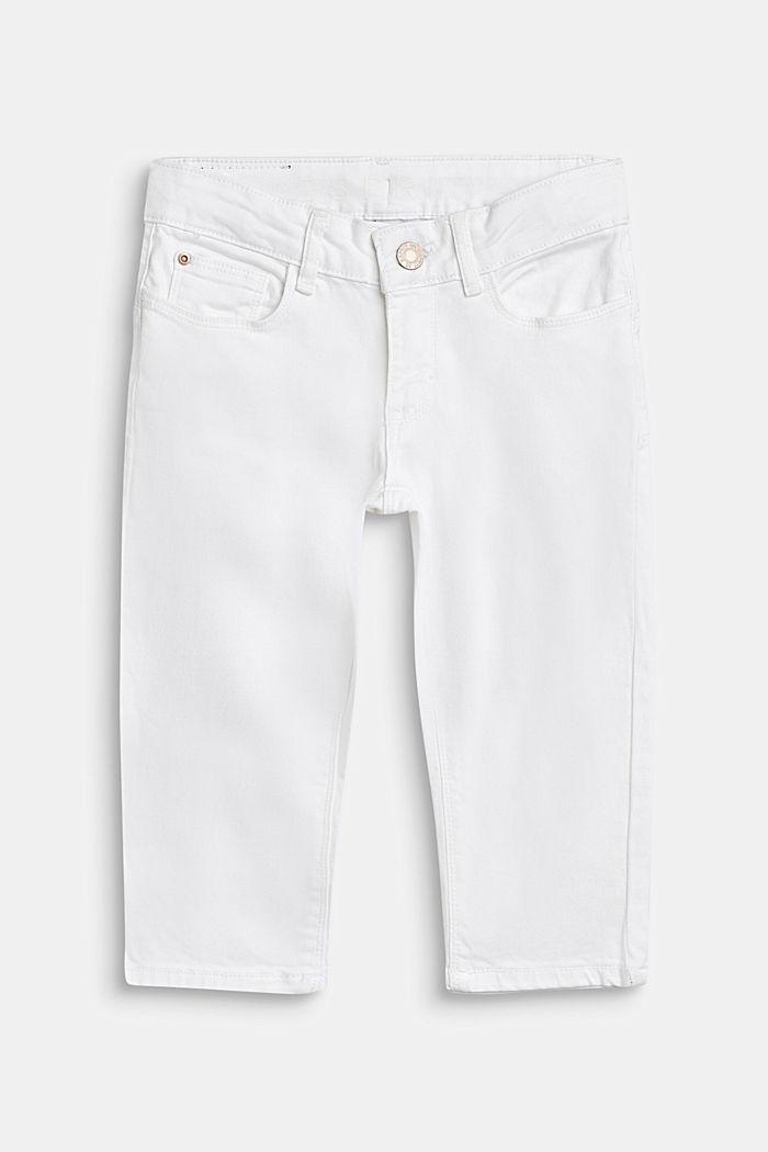 Värilliset caprifarkut, säätövyötärö, WHITE, detail image number 0