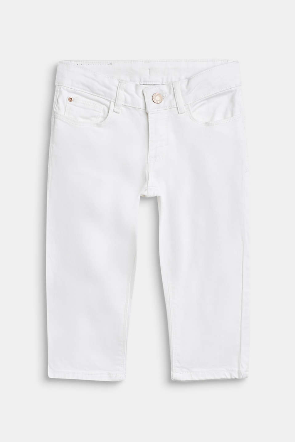 Esprit - Colored Capri-Jeans mit Verstellbund