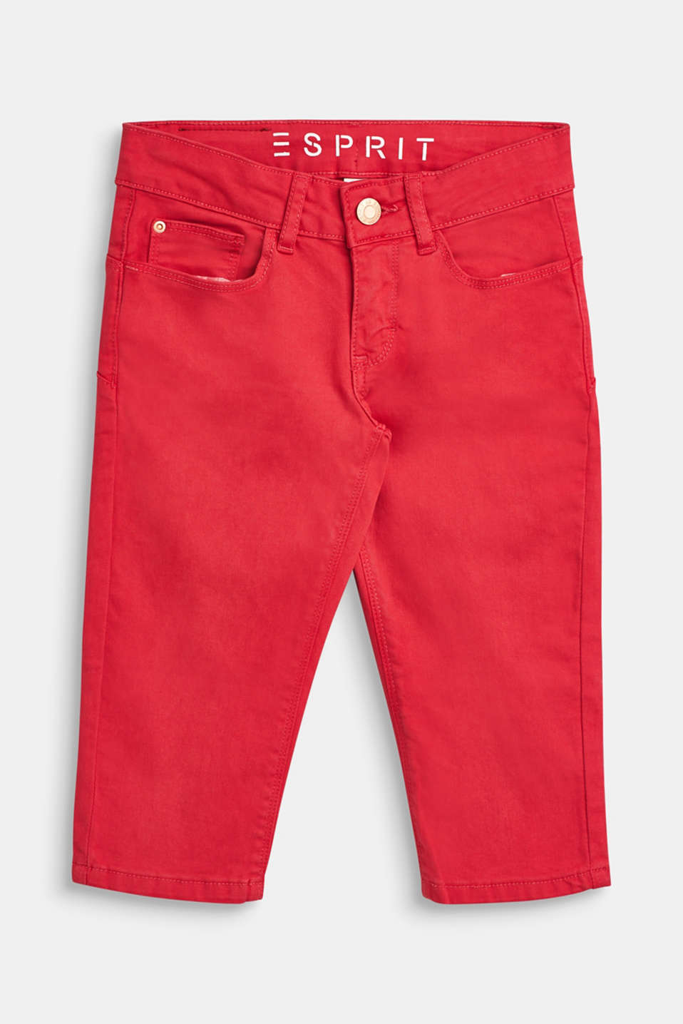 Esprit - Coloured Capris with an adjustable waistband