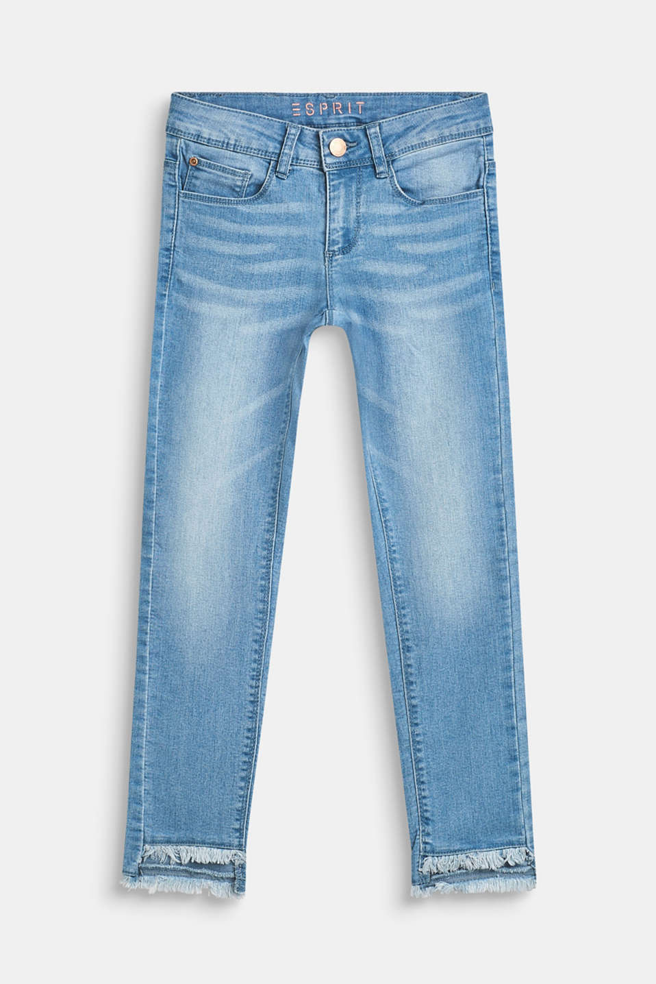 Esprit - Ultra stretchy jeans with a vintage garment wash