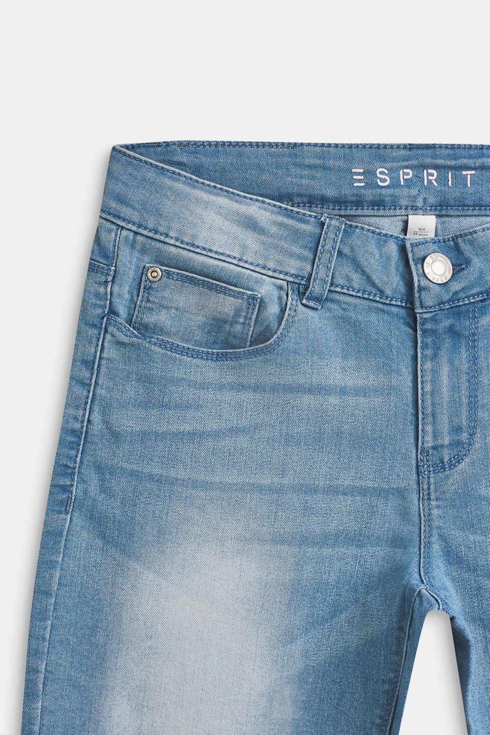Super stretch Capri-length jeans, LCBLEACHED DENIM, detail image number 2