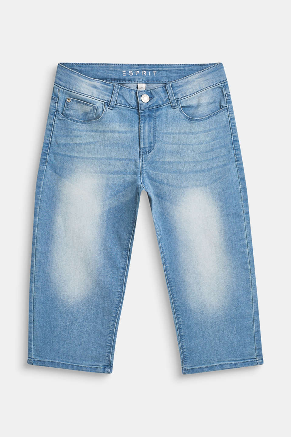 Esprit - Superstretch-Jeans in Capri-Länge