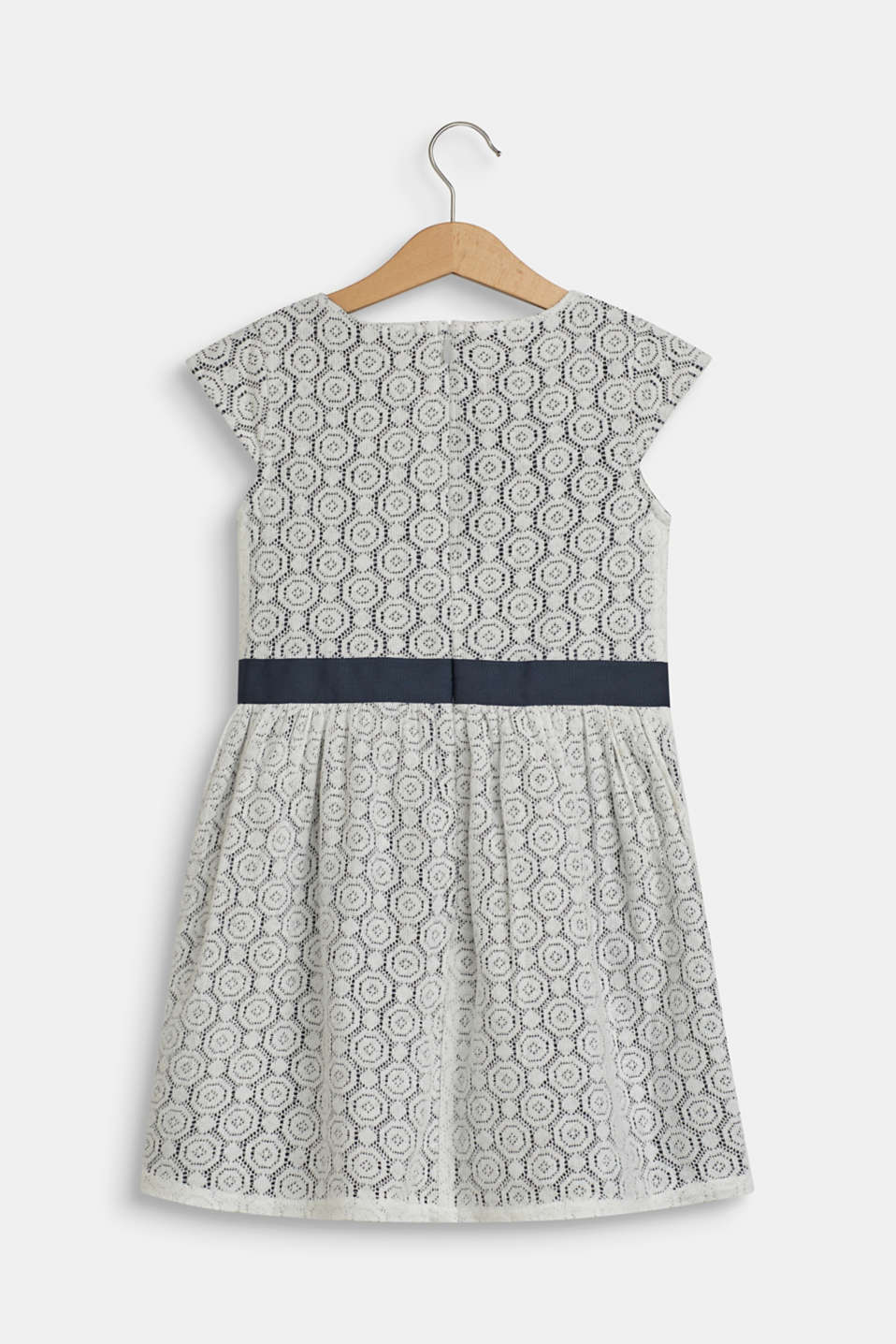 Lacy dress with cotton lining, OFF WHITE, detail image number 1