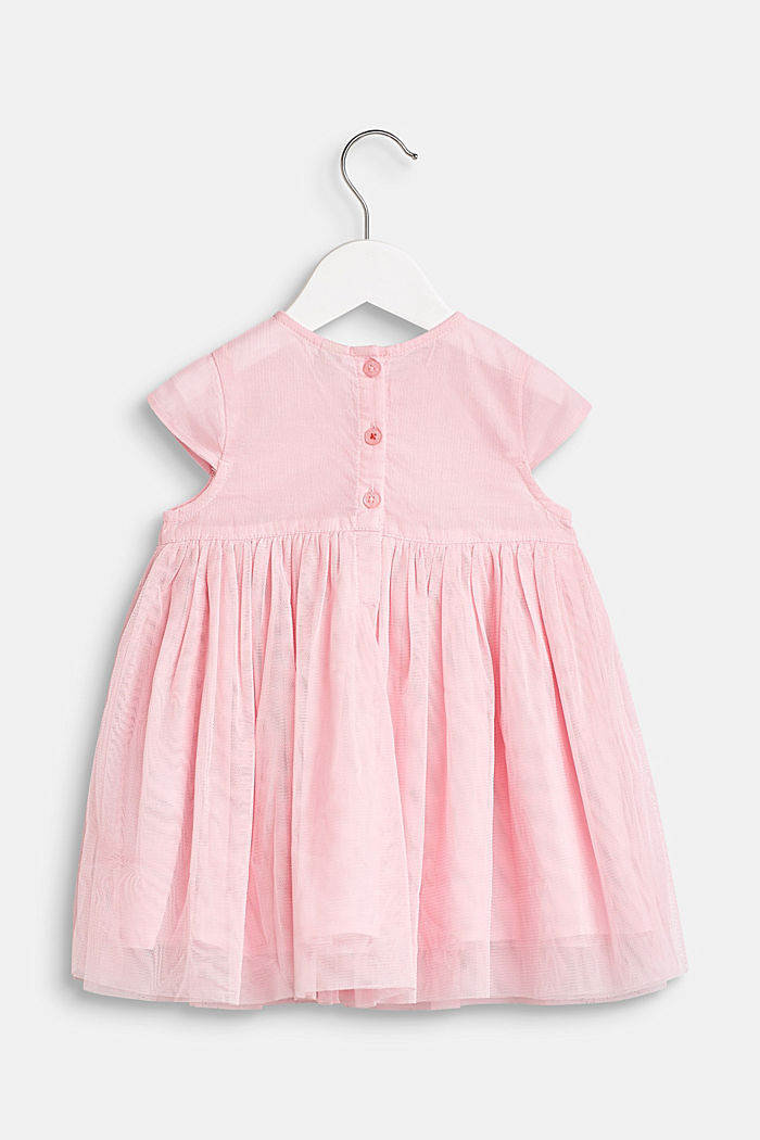 Tulle dress with flowers and cotton lining, BLUSH, detail image number 2