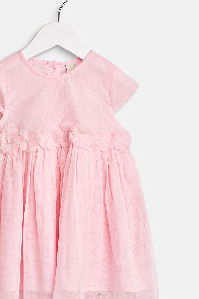 Tulle dress with flowers and cotton lining, BLUSH, detail image number 1