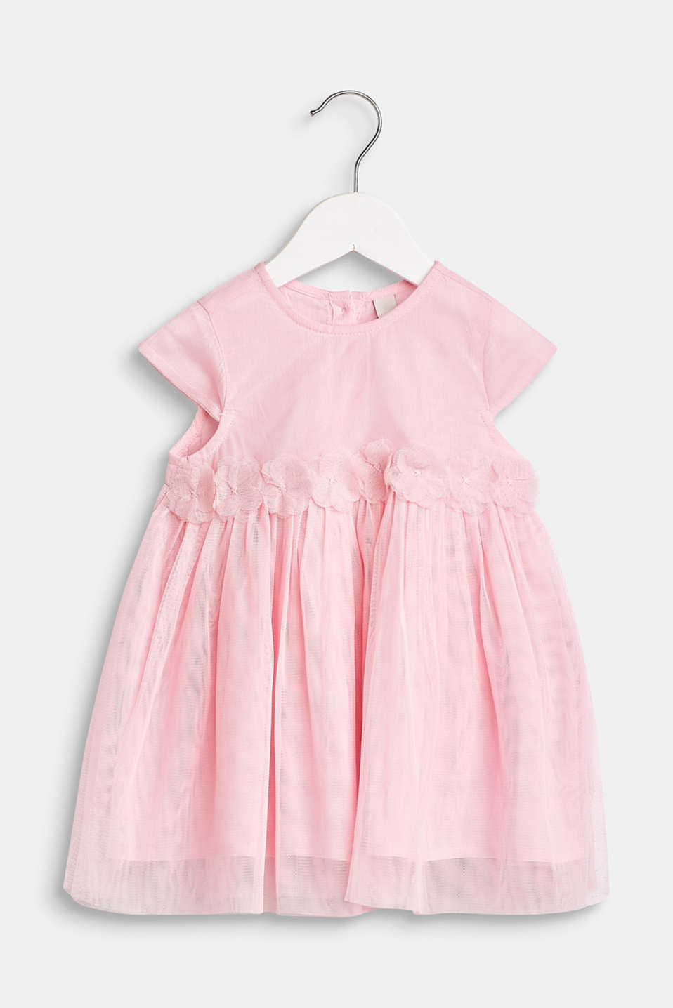 Esprit - Tulle dress with flowers and cotton lining