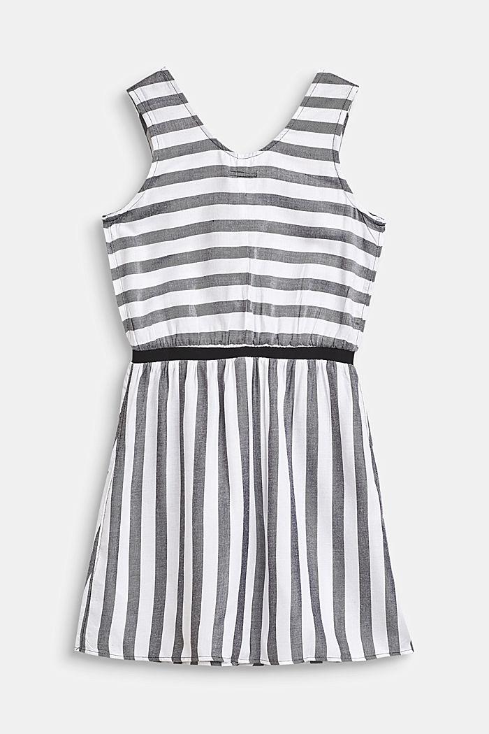 Fließendes Web-Kleid im Streifen-Look, ANTHRACITE, detail image number 1