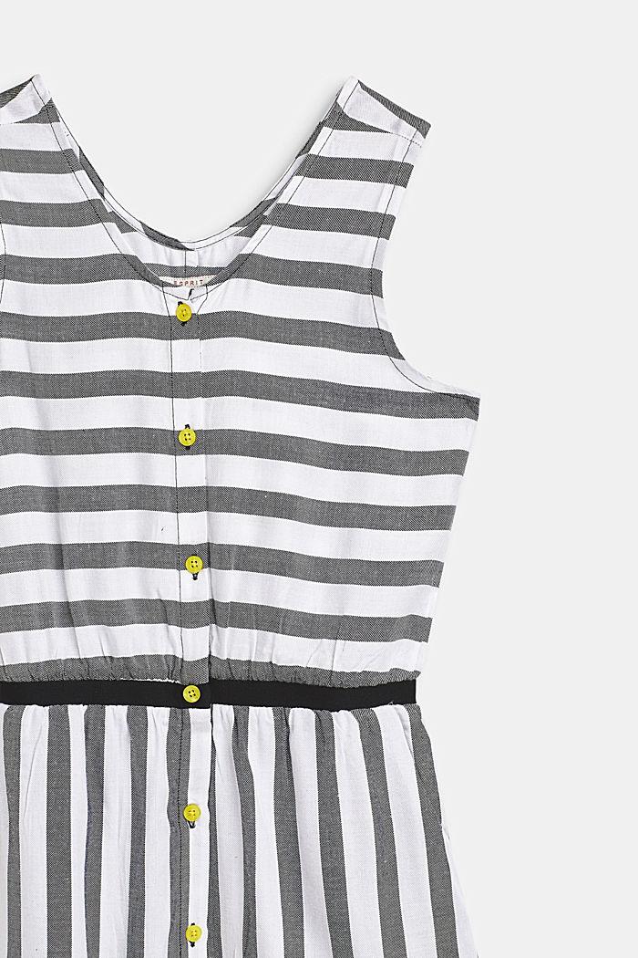 Fließendes Web-Kleid im Streifen-Look, ANTHRACITE, detail image number 2