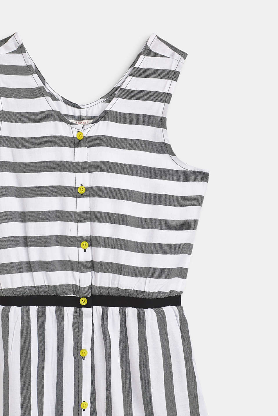 Flowing, woven dress with a striped pattern, LCANTHRACITE, detail image number 2