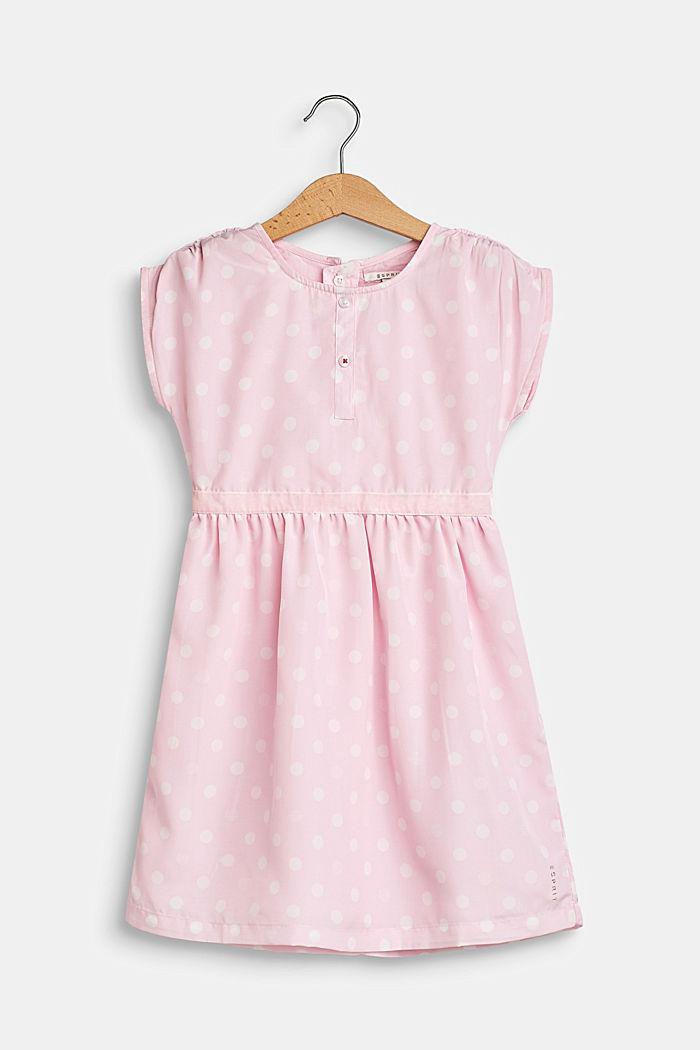 Feestelijke jurk met stippen en een katoenen voering, BLUSH, detail image number 0