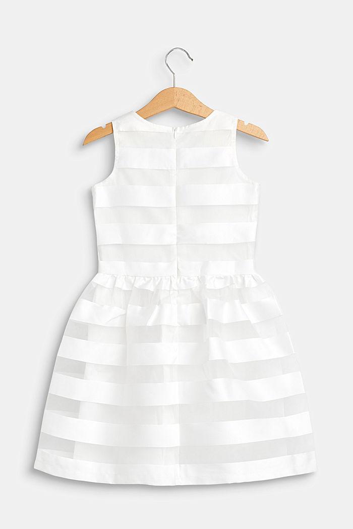 Festliches Kleid mit Glanz-Streifen, OFF WHITE, detail image number 1