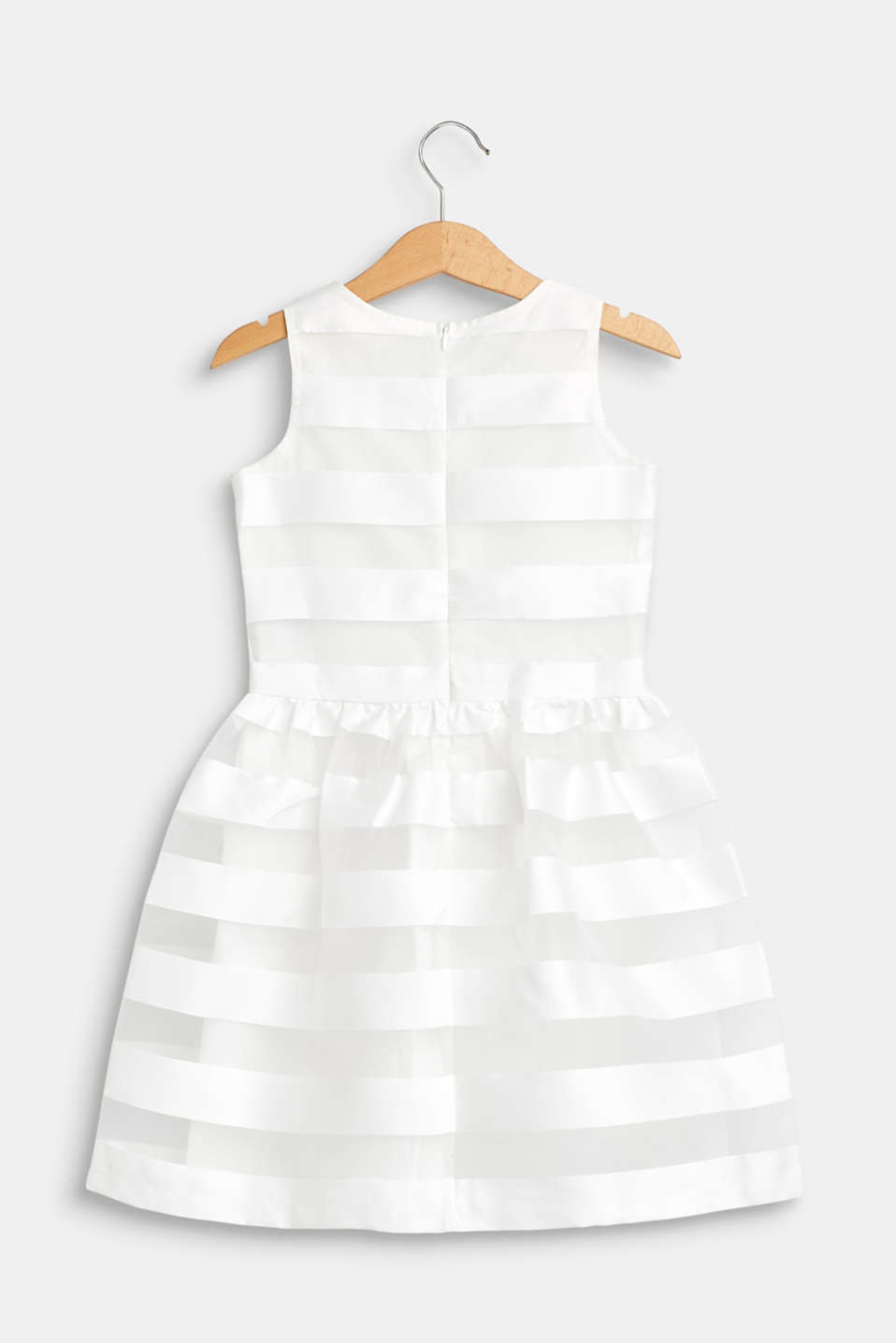 Formal dress with shiny stripes, OFF WHITE, detail image number 1