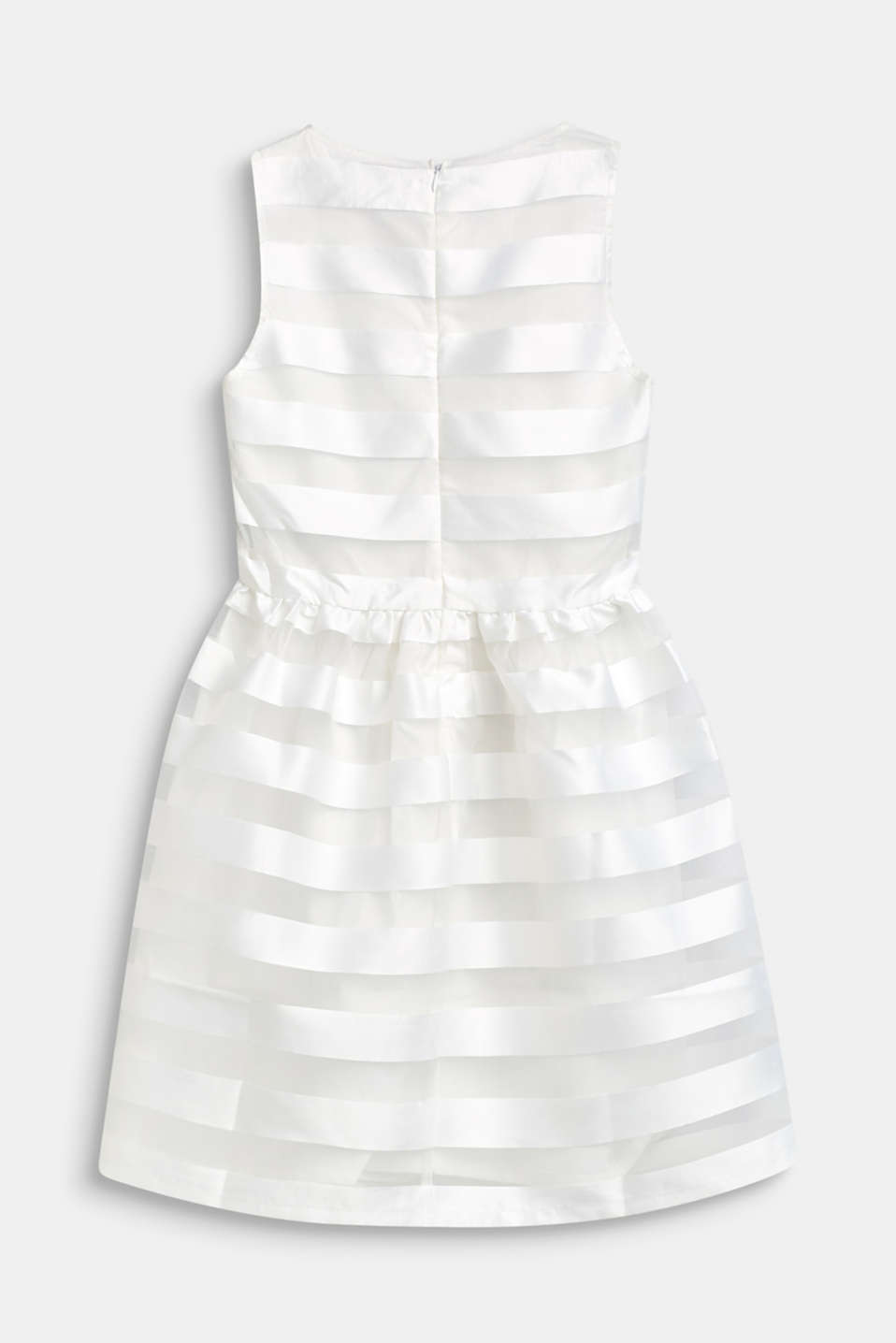 Formal dress with shiny stripes, LCOFF WHITE, detail image number 1