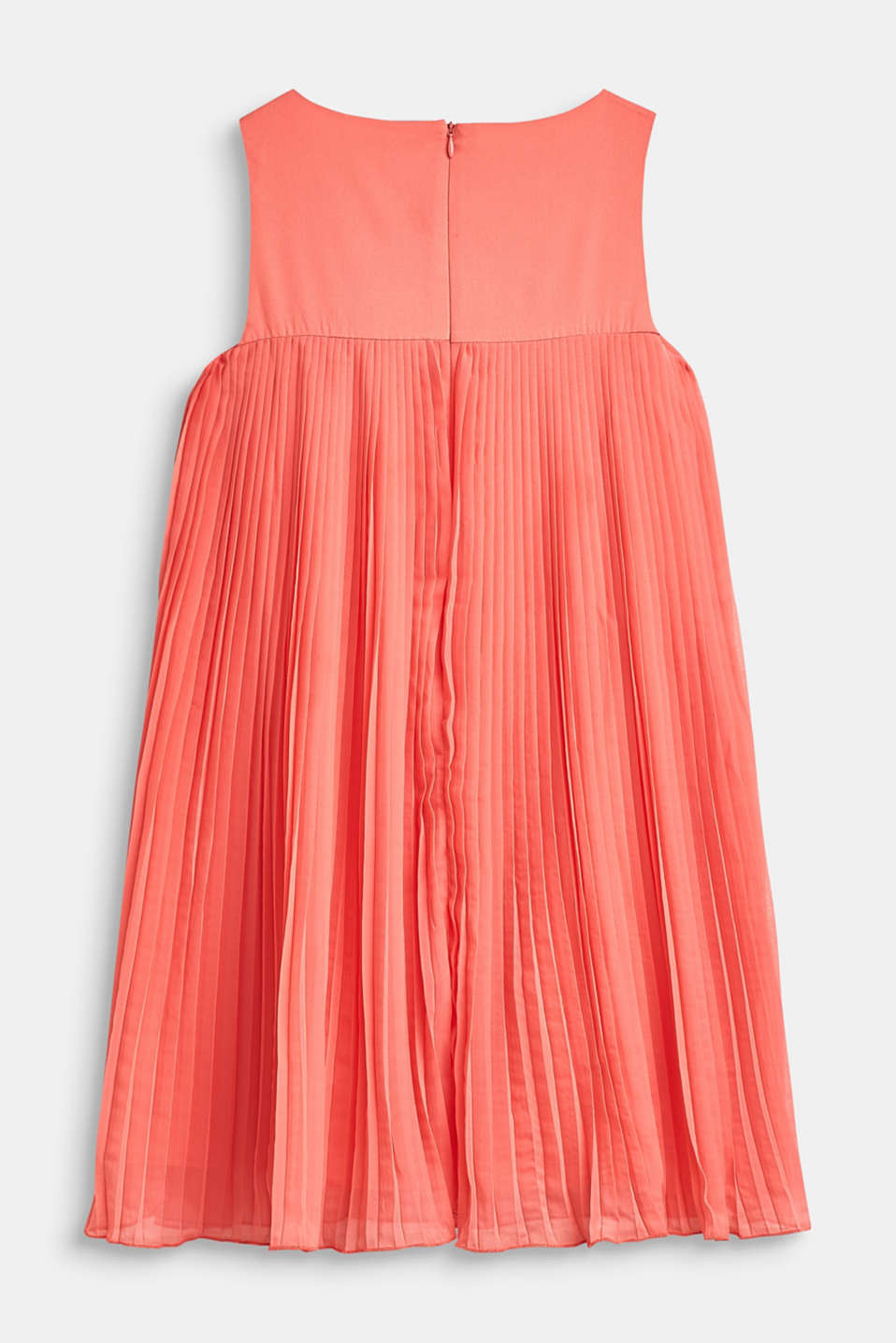 Flared, pleated dress with cotton lining, LCCORAL, detail image number 1
