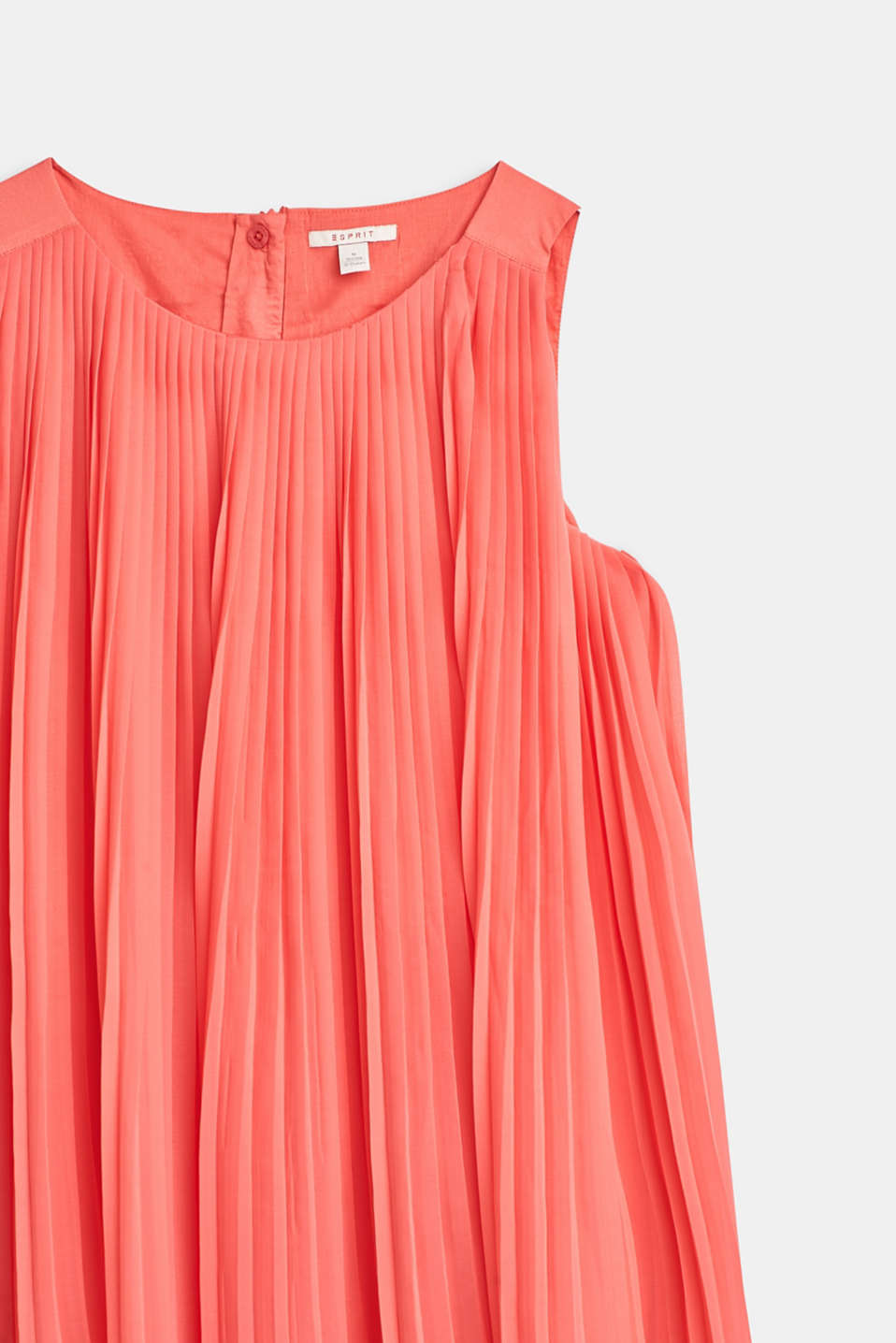 Flared, pleated dress with cotton lining, LCCORAL, detail image number 2