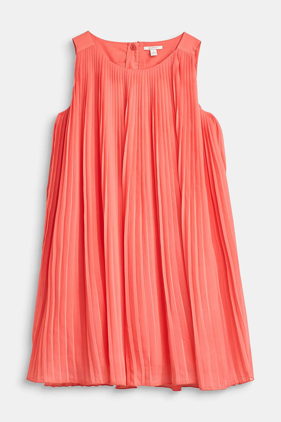 Esprit - Flared, pleated dress with cotton lining