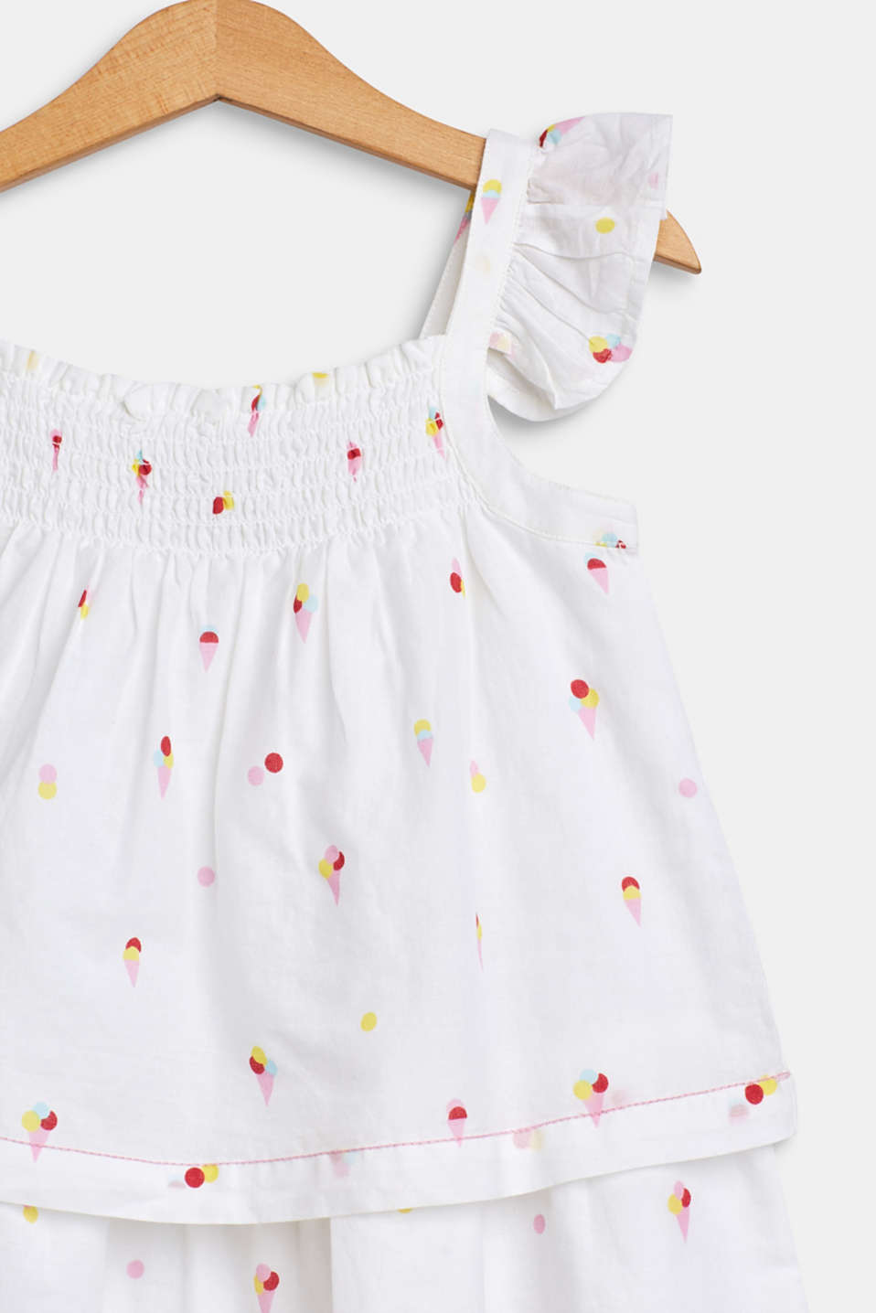 Flounce dress with an ice cream print, 100% cotton, WHITE, detail image number 2