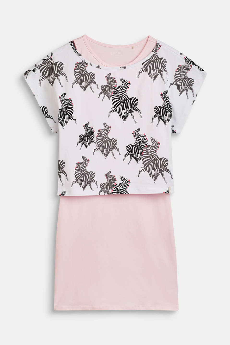 Esprit - 2-In-1 dress with a printed T-shirt
