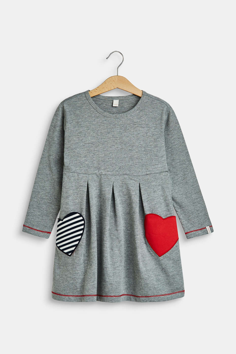 Esprit - Jersey dress with heart pockets