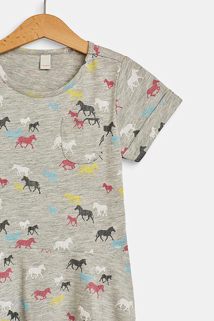 Horse print jersey dress