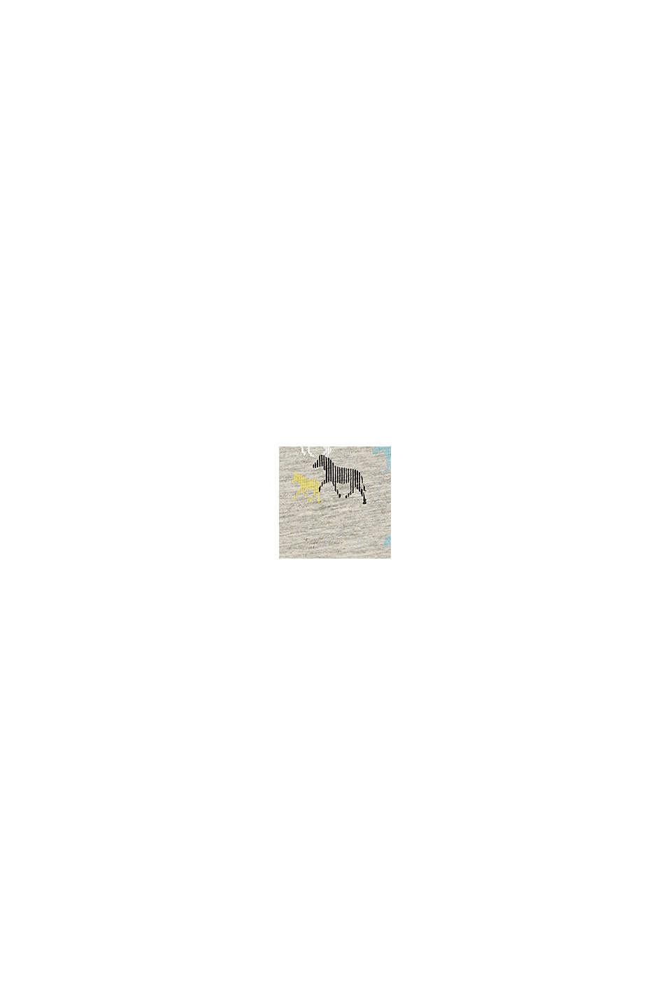 Horse print jersey dress, HEATHER SILVER, swatch
