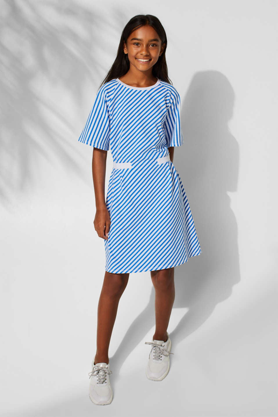Striped stretch jersey dress, LCINFINITY BLUE, detail image number 2