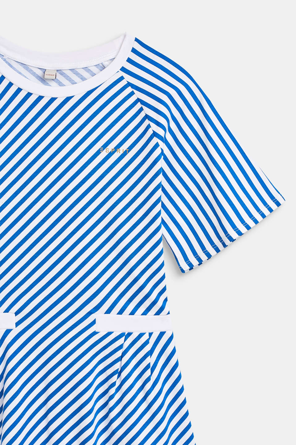 Striped stretch jersey dress, LCINFINITY BLUE, detail image number 3