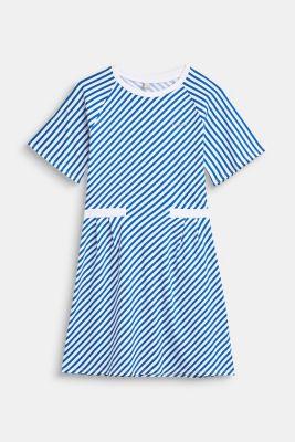 Striped stretch jersey dress, LCINFINITY BLUE, detail