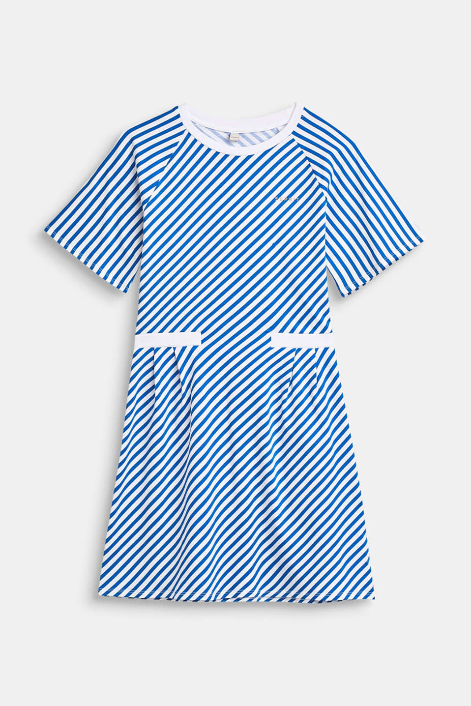 Striped stretch jersey dress, LCINFINITY BLUE, detail image number 0